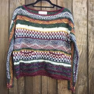 Paper Crane Cropped knit sweater